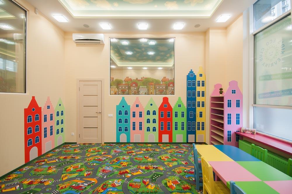 Дизайн интерьера детского эко-клуба эврика.
